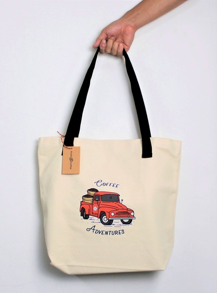 Coffee Adventures Tote Bag