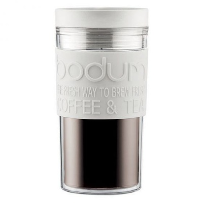 Double Wall Travel Mug (Off-White)